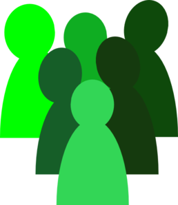 clip art black and white stock  green clip art. Crowd clipart