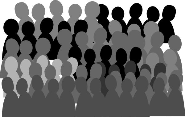 clipart royalty free Crowd clipart. Transparent background free on.