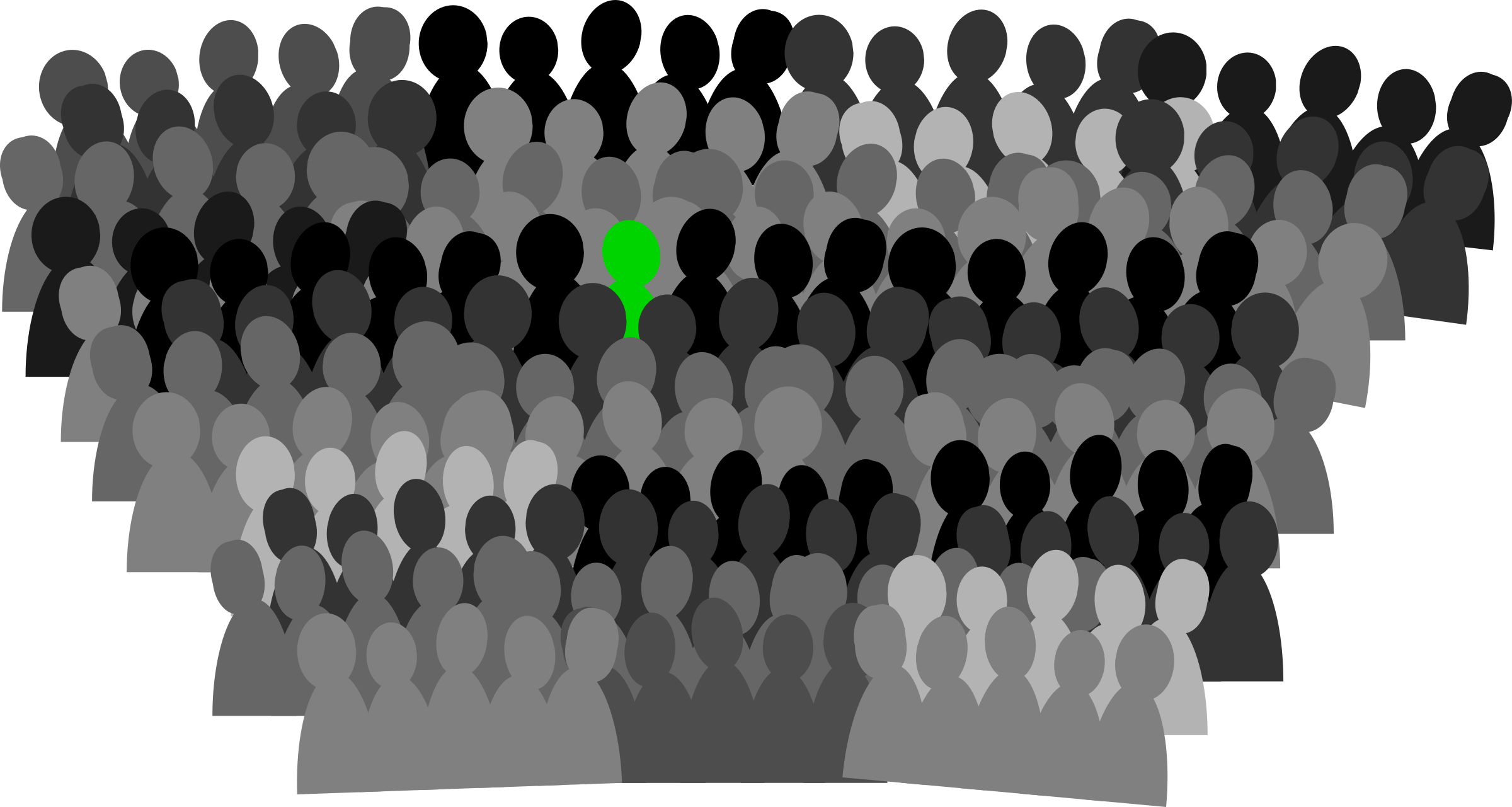 jpg stock Crowd clipart. Panda free images audience.