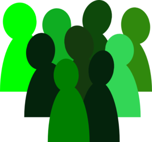 picture free stock Crowd clipart.  green clip art.