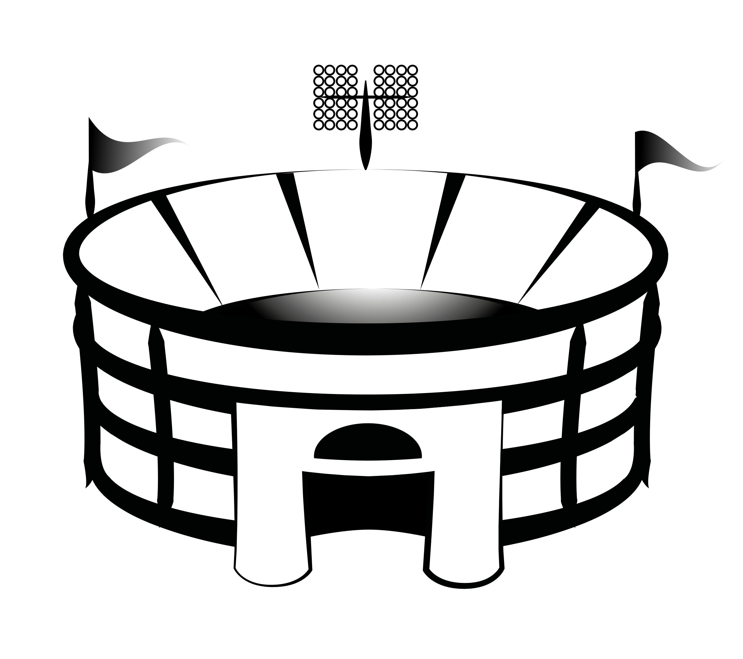 picture freeuse library Free clipart of stadium crowd baseball game