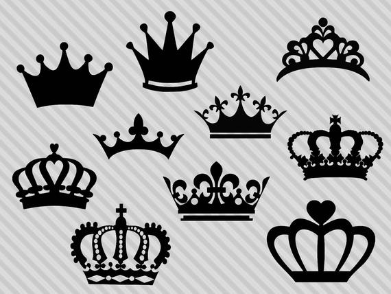 banner transparent library Crown clipart. Svg cutting file silhouette.
