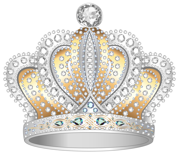 png library stock Diamond crown png image. Gold and silver clipart