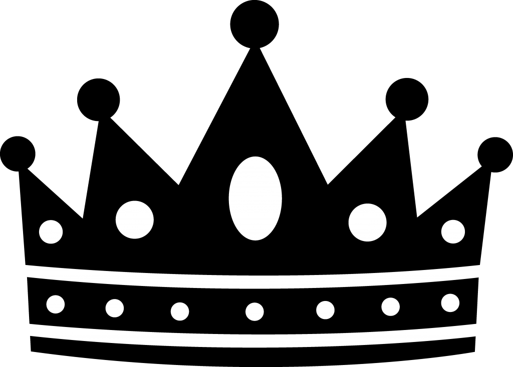 banner freeuse download Black and white crown clipart. Queen