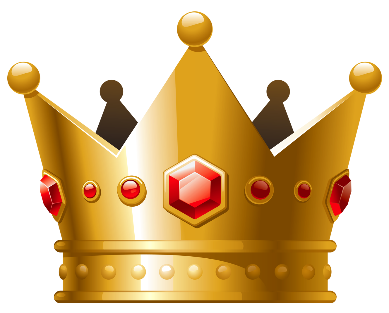 free library Crowns clipart big crown. Gold with red diamonds