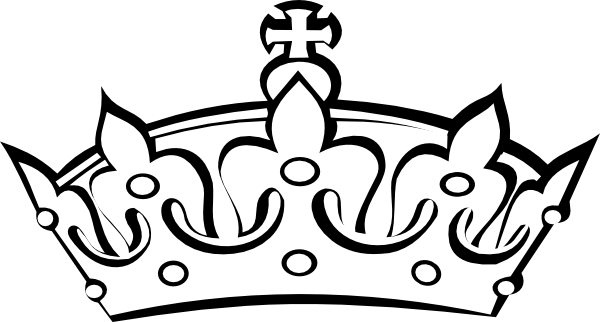 banner freeuse stock  collection of crowns. Tiara clipart black and white