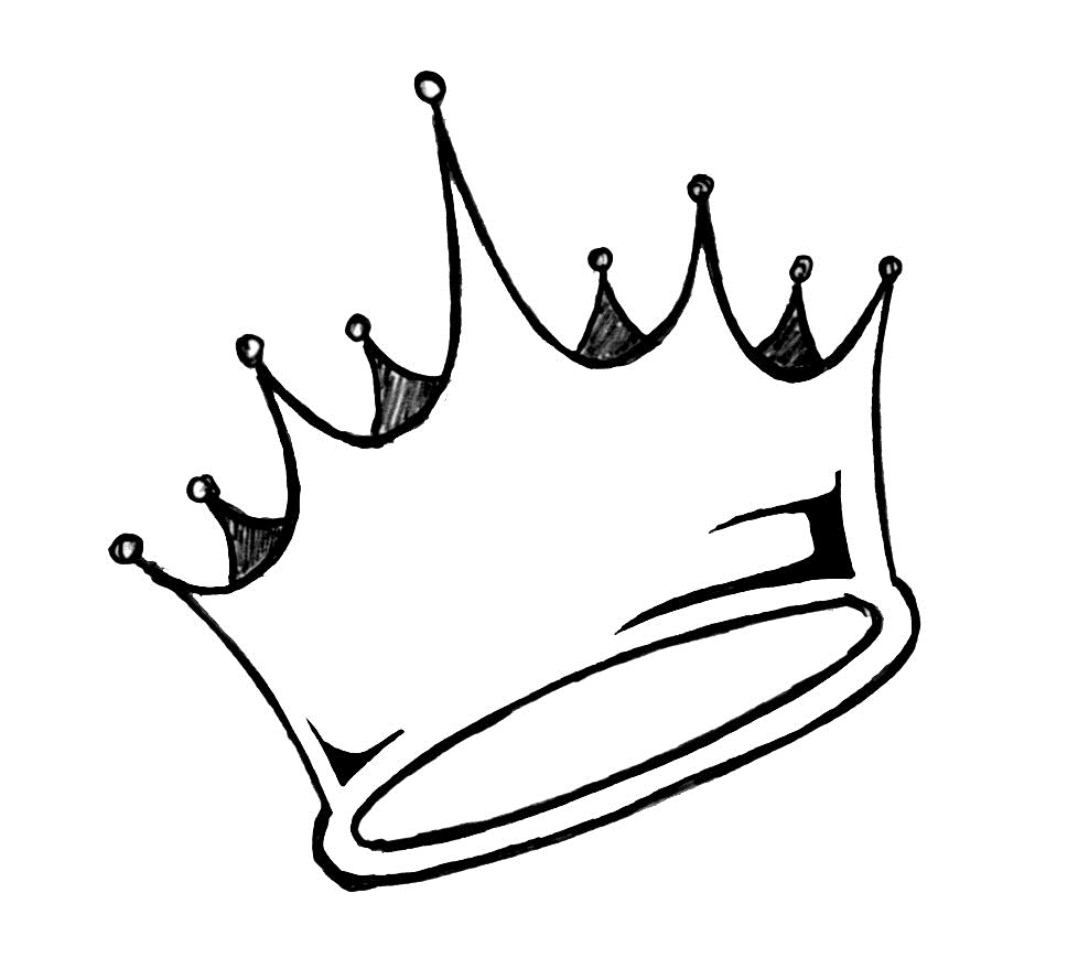 black and white Collection of free Crown drawing life