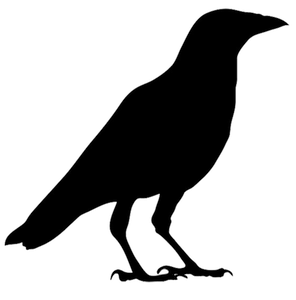 vector black and white download Crow Drawing at GetDrawings