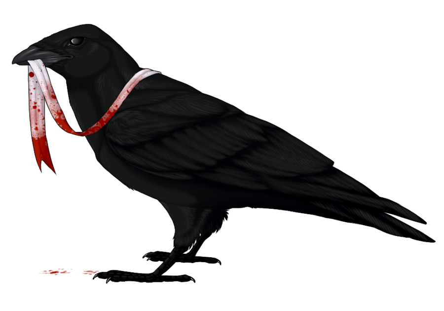 svg black and white The Raven and The Ribbon by mistywren on DeviantArt