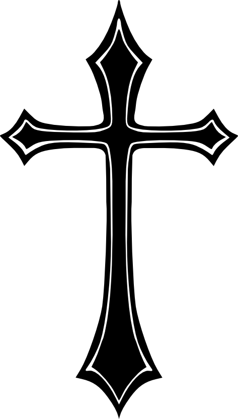 banner free library Cross home pinterest crosses. Vector emblem gothic
