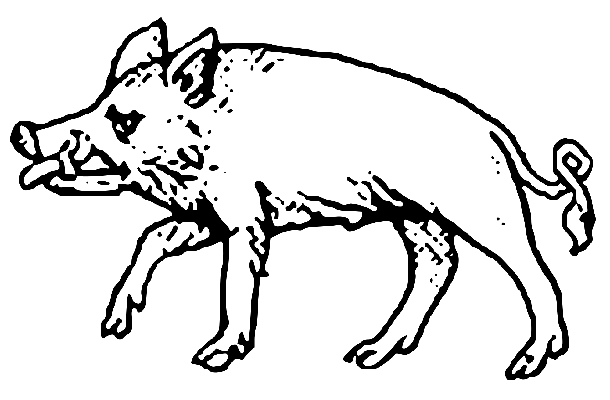banner free Crude drawing. File boar svg wikimedia