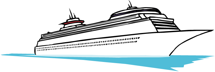 vector black and white stock Cruise Clipart at GetDrawings