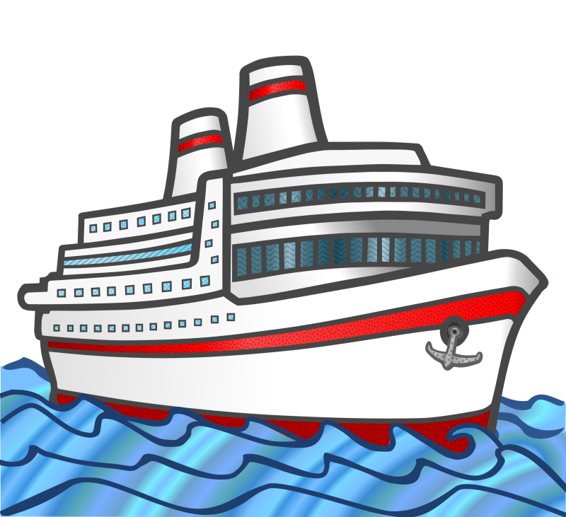 jpg black and white library Cruise Ship Clipart