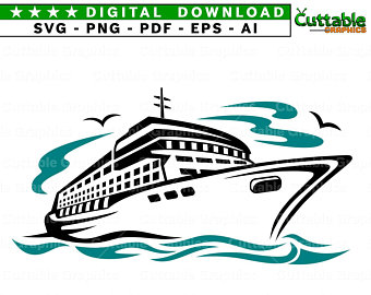 picture library stock Boat svg cruise. Ship etsy
