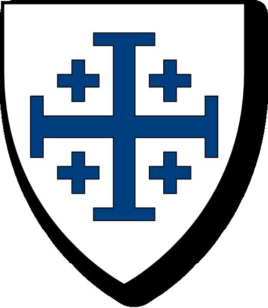 svg free download Blue Crusader Cross Clip Art at Clker