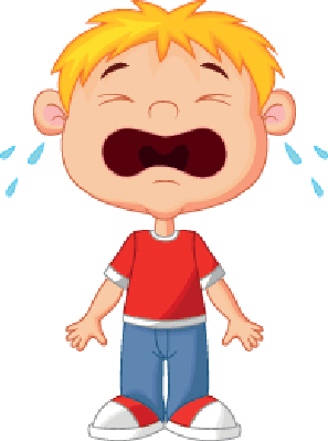 picture freeuse library Young boy cartoon the. Crying clipart