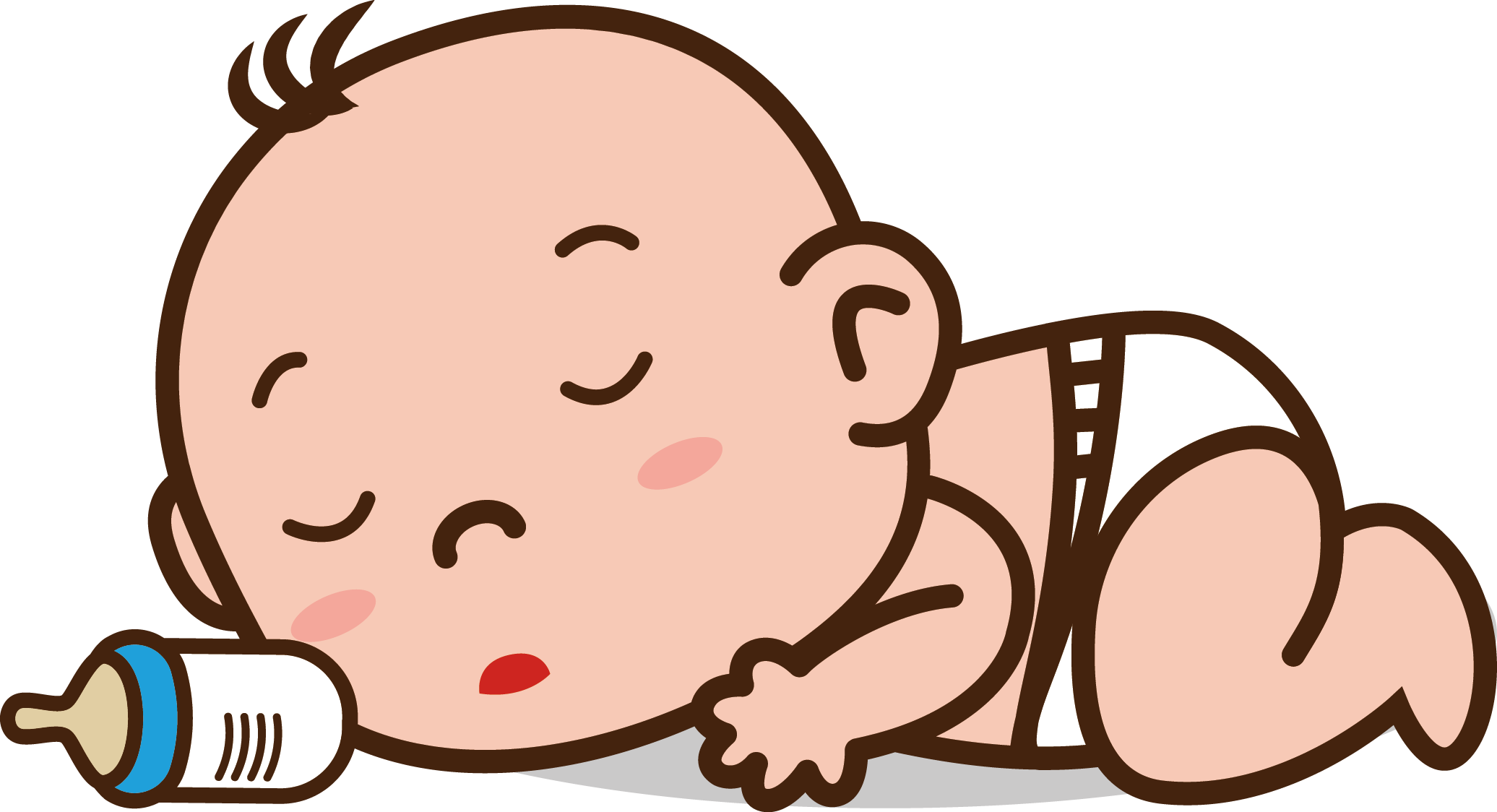 image library library Tummy infant colic sleep. Vector baby emotion