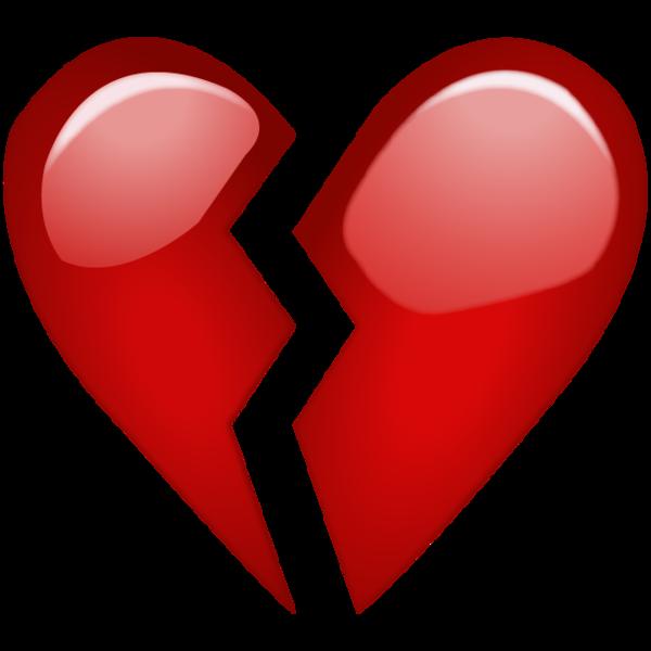 jpg royalty free Red emoji png when. Drawing sad broken heart