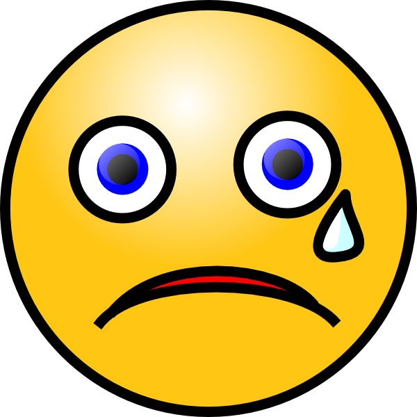 jpg library library Crying smiley clip art. Cry clipart tear