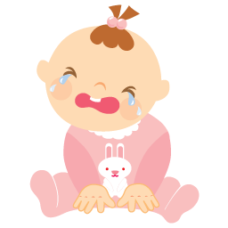 vector library stock Crying clipart sad little girl. Pictures baby cartoon drawing