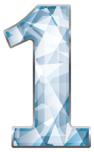 jpg Crystal clipart. Number one png image.