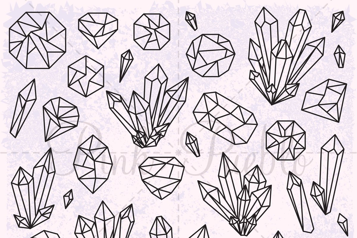 image free download Crystal clipart. Gemstone illustrations creative market.