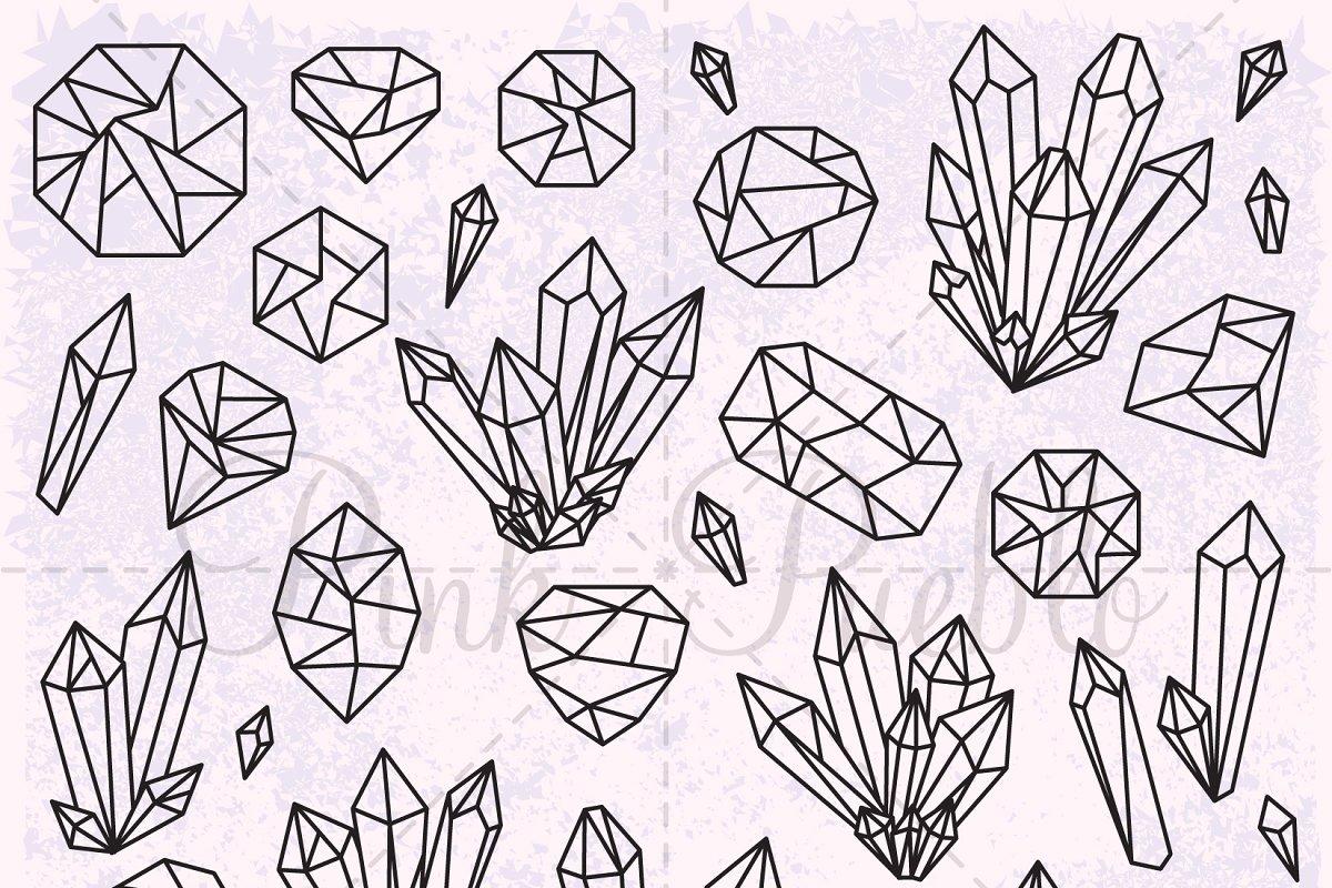image free download Crystal clipart. Gemstone illustrations creative market
