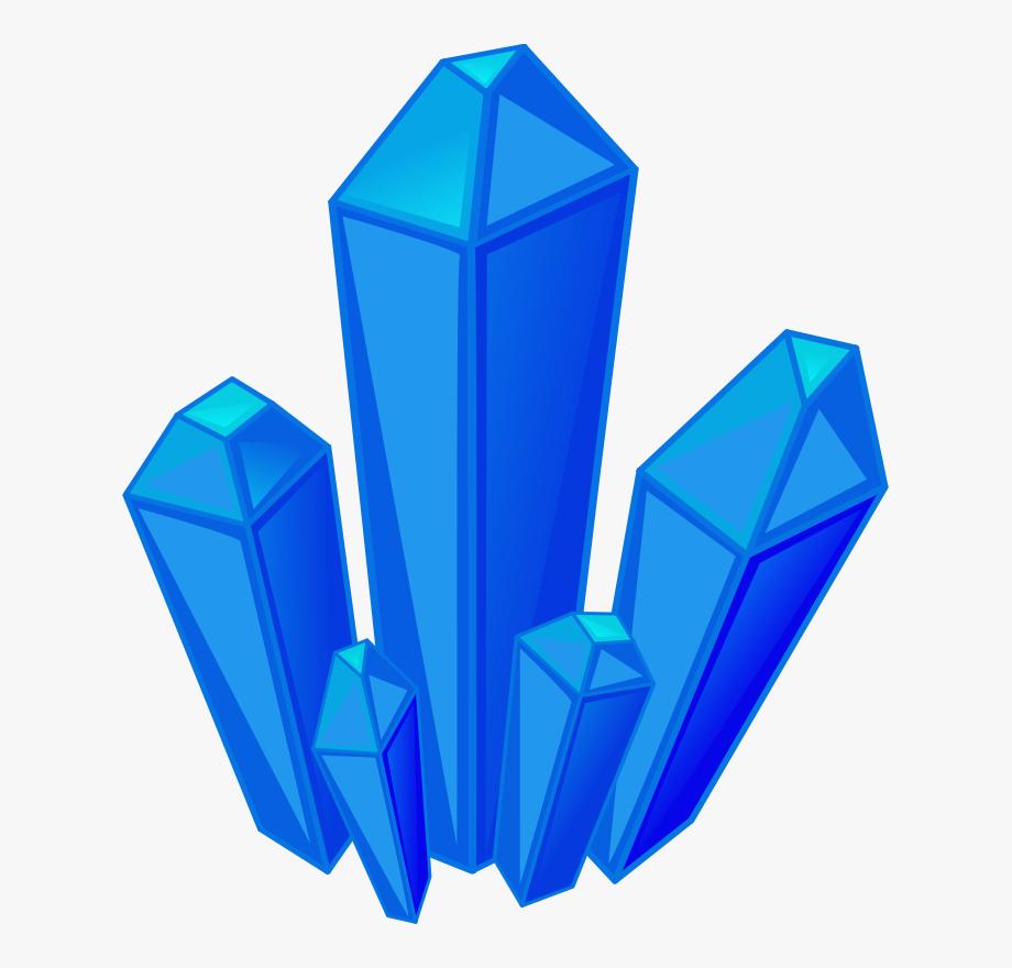 png download Berg quartz blue gem. Crystal clipart.