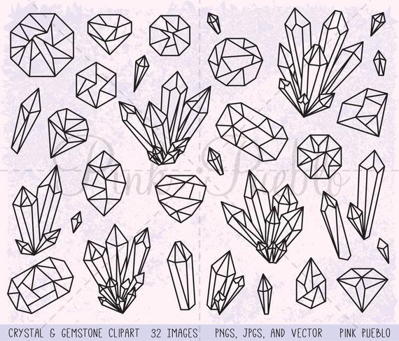 clip art freeuse stock Crystal clipart. Clip art gemstone gem
