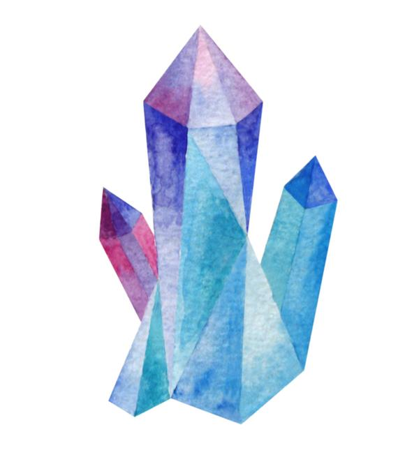 graphic free download Crystals watercolor clusters geode. Crystal clipart