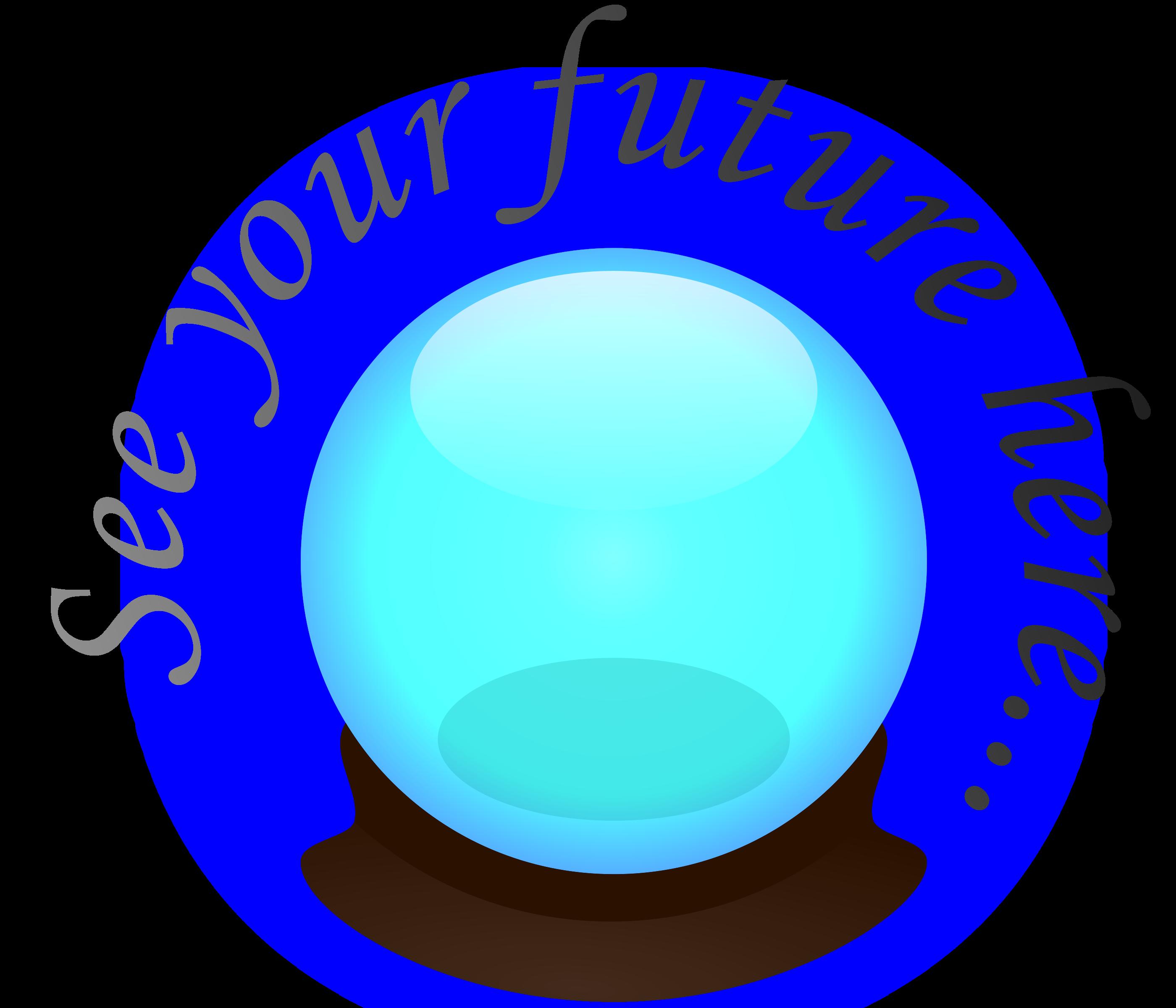 banner transparent Crystal clipart. Ball big image png