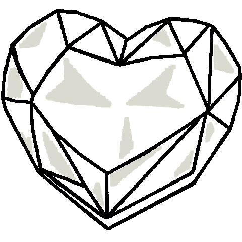 svg freeuse Drawing crystal. Heart base by sasami