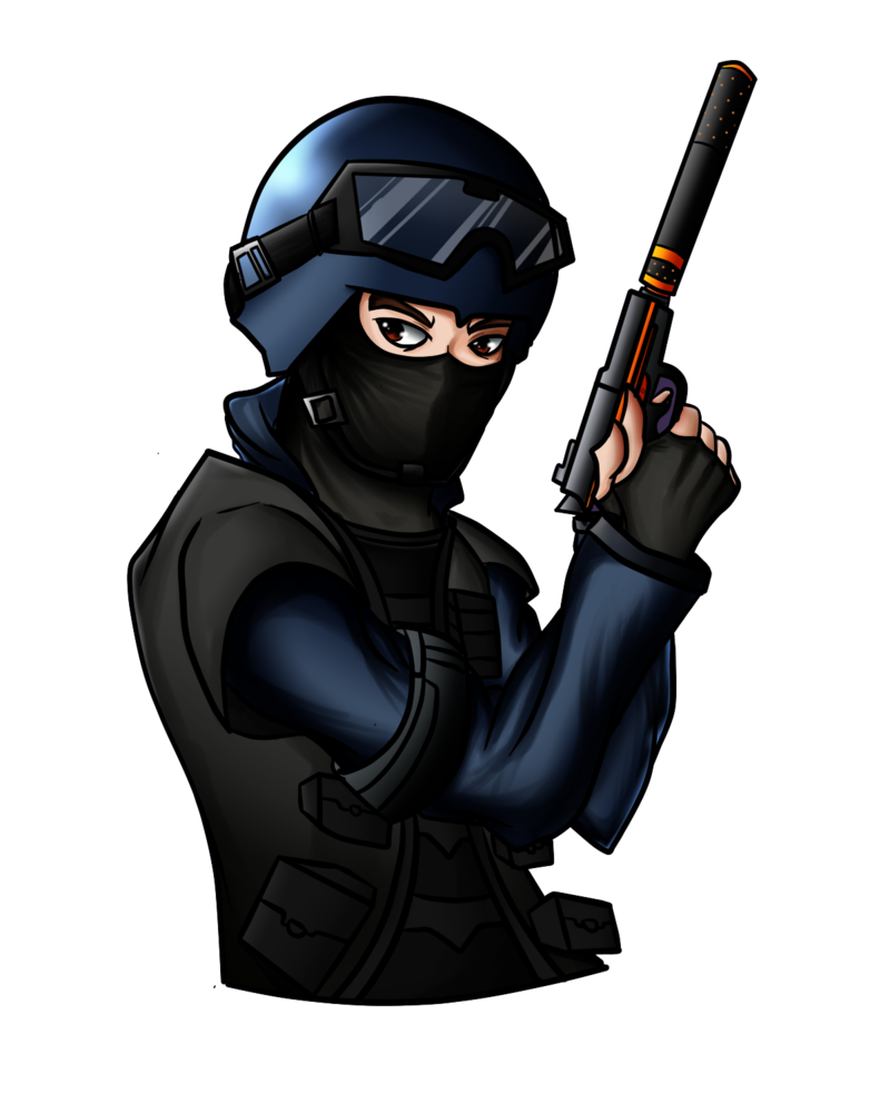 black and white library Counter terrorist commission by. Csgo drawing.