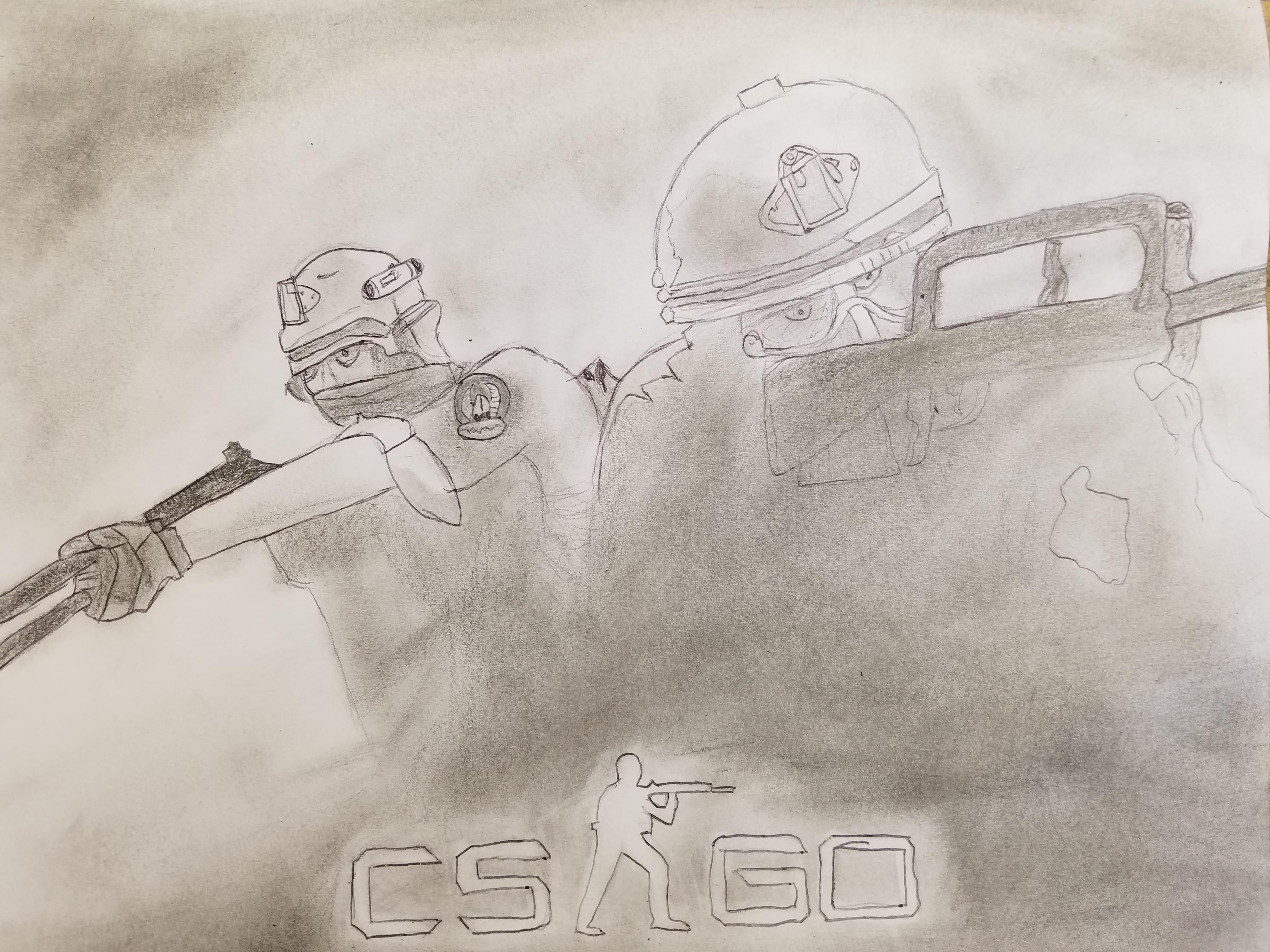 clipart transparent library Certainly not the best. Csgo drawing.