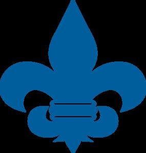 svg freeuse library Cub scout clipart. Blue fleur de lis.