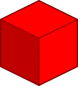 png freeuse stock Big red clip art. Cube clipart