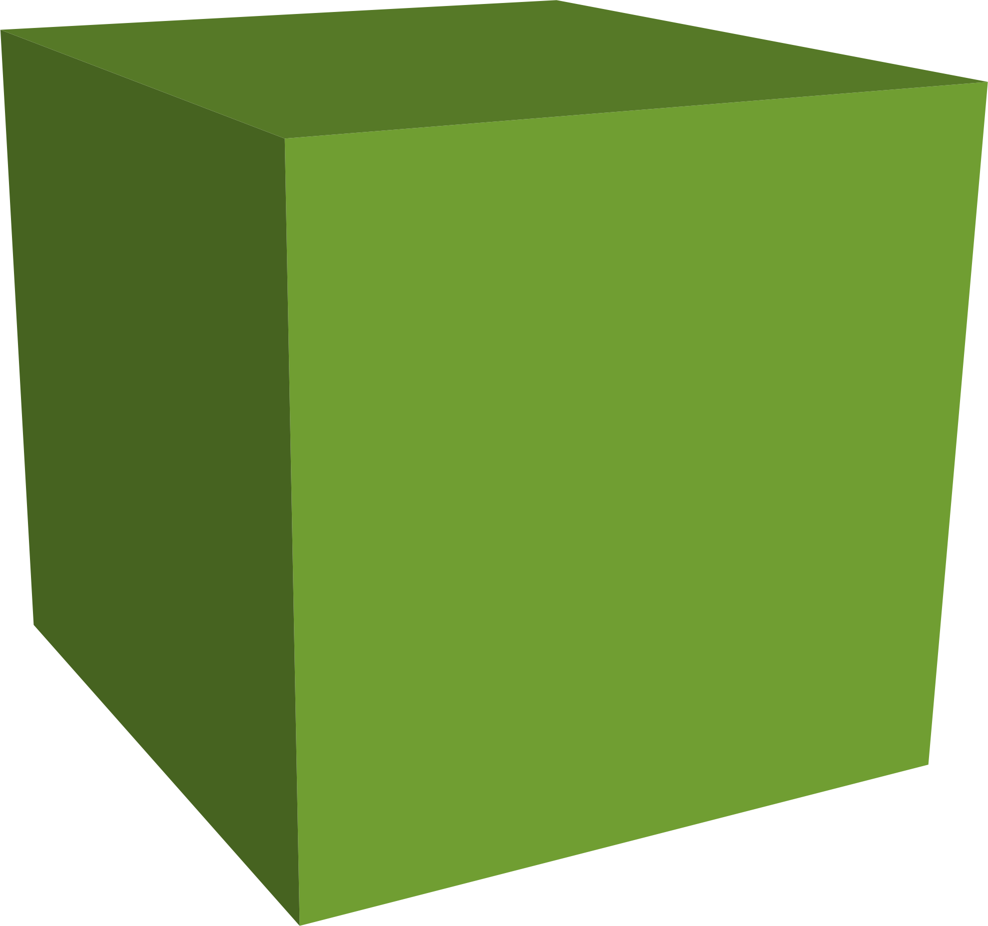 banner freeuse download Green big image png. Cube clipart