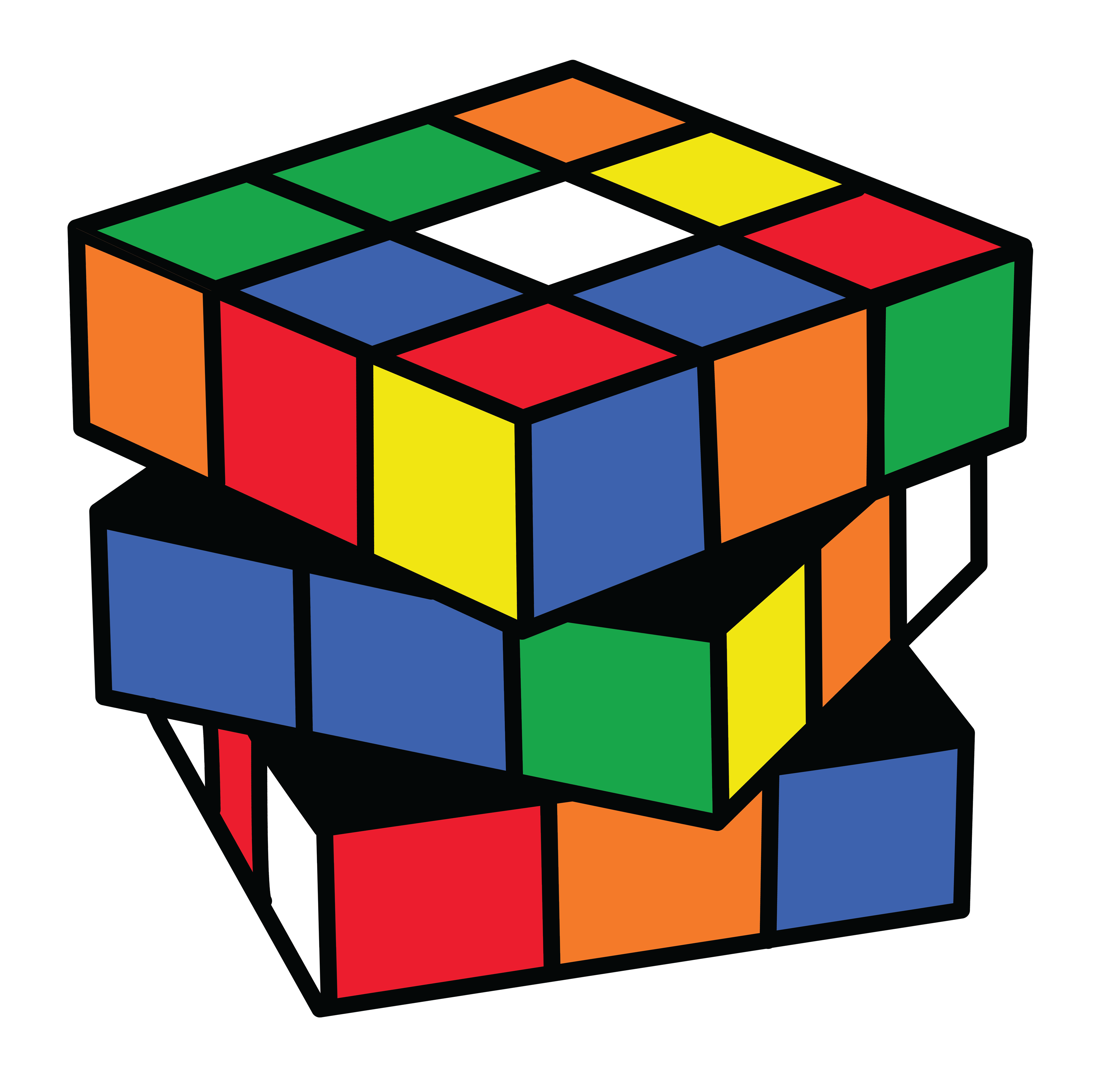 image black and white Rubix cube color clip. Why clipart cubes