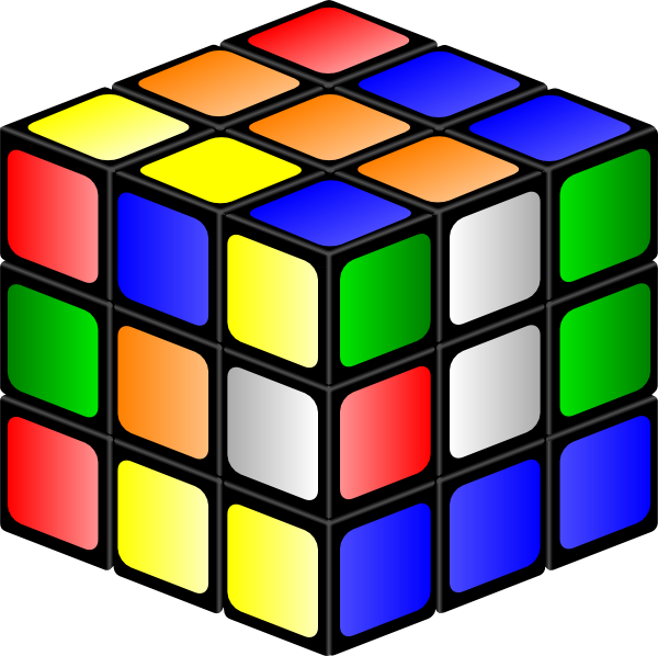 free stock Cube clipart. Rubiks clip art at