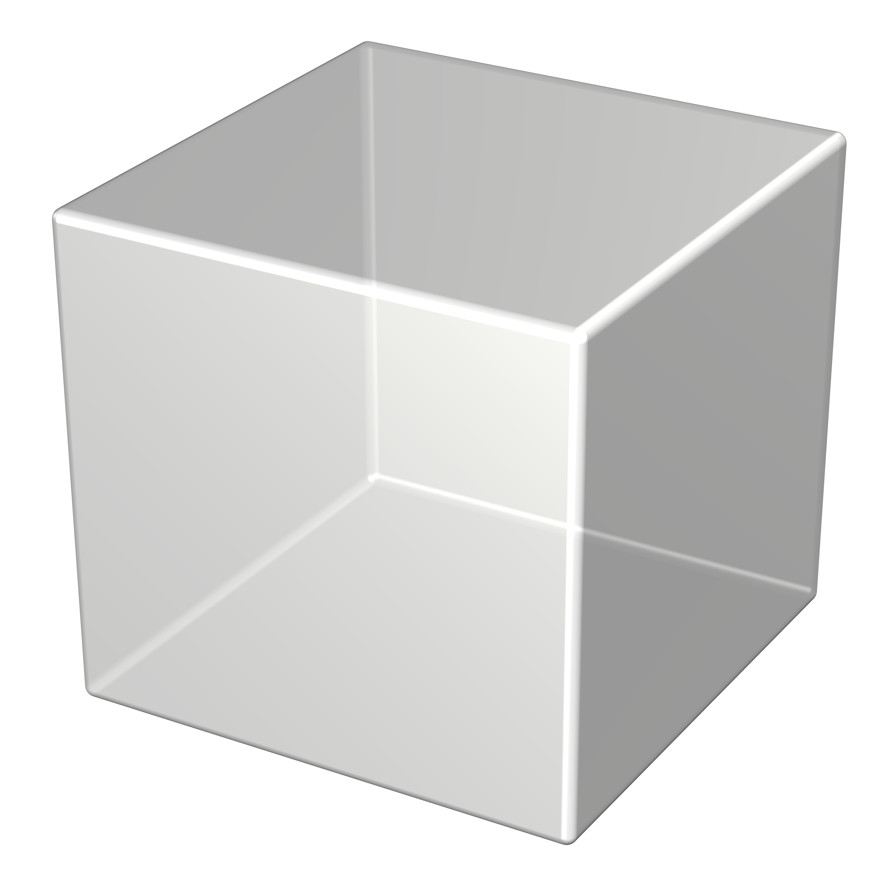 royalty free Cube transparent. High resolution renderings of