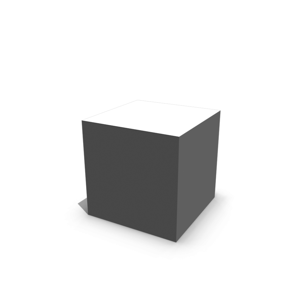 vector black and white Cube white with glossy surface