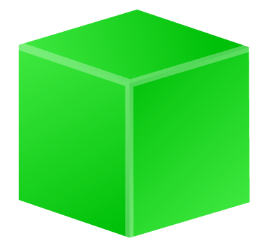 banner freeuse stock Green cube png