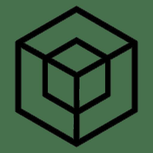 clip library library Cube logo geometric polygonal