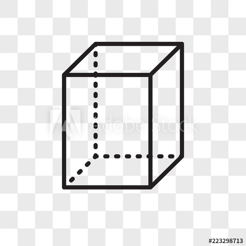 image transparent Icon isolated on background. Cube transparent vector