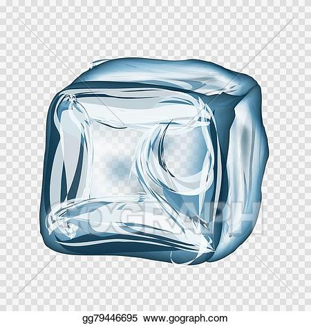 image stock Art ice in blue. Cube transparent vector