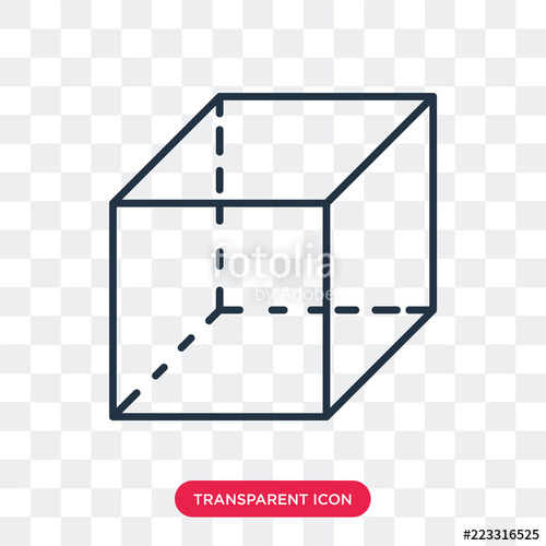 image transparent Cube transparent vector. Icon isolated on background