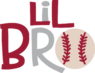 svg transparent download Lil Bro Baseball SVG