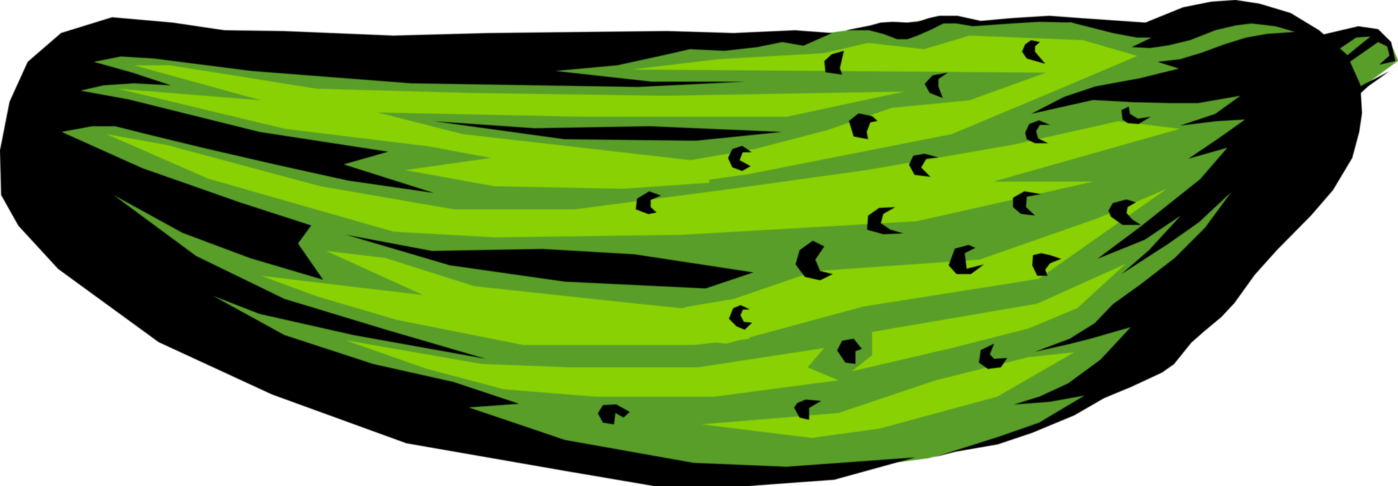 clip library Pickle vector black and white. Cucumber dill image illustration.