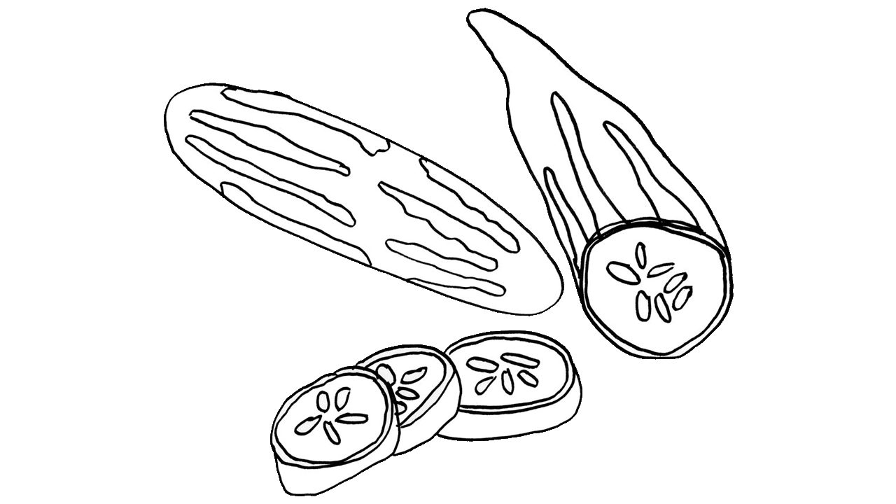 picture free download Vegetable fruit clip art. Cucumber clipart drawing