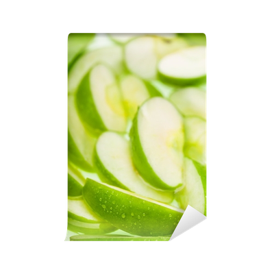 clipart freeuse library Green wet apple slices